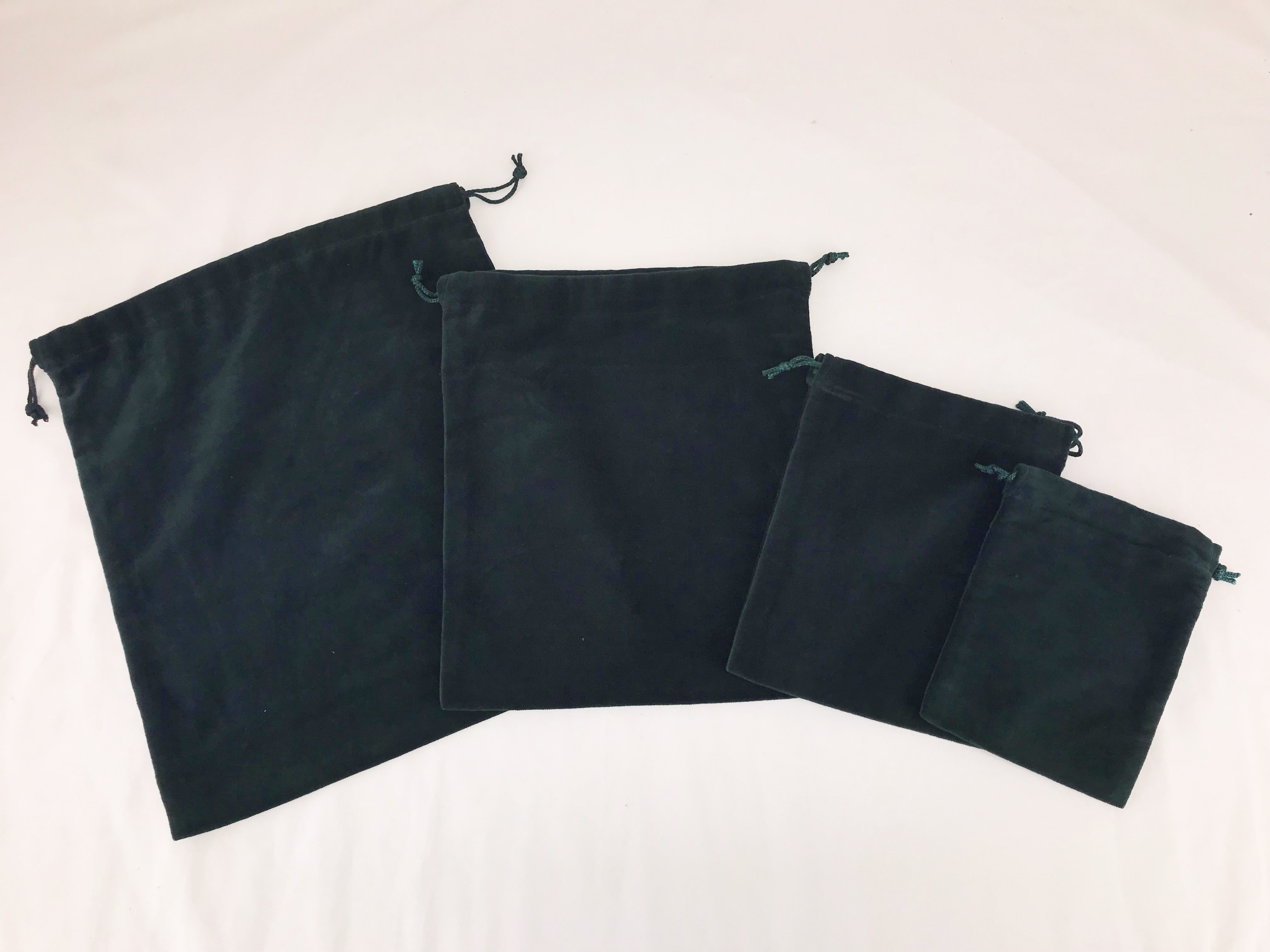 10 X Cremains Bags - Green - No Embroidery