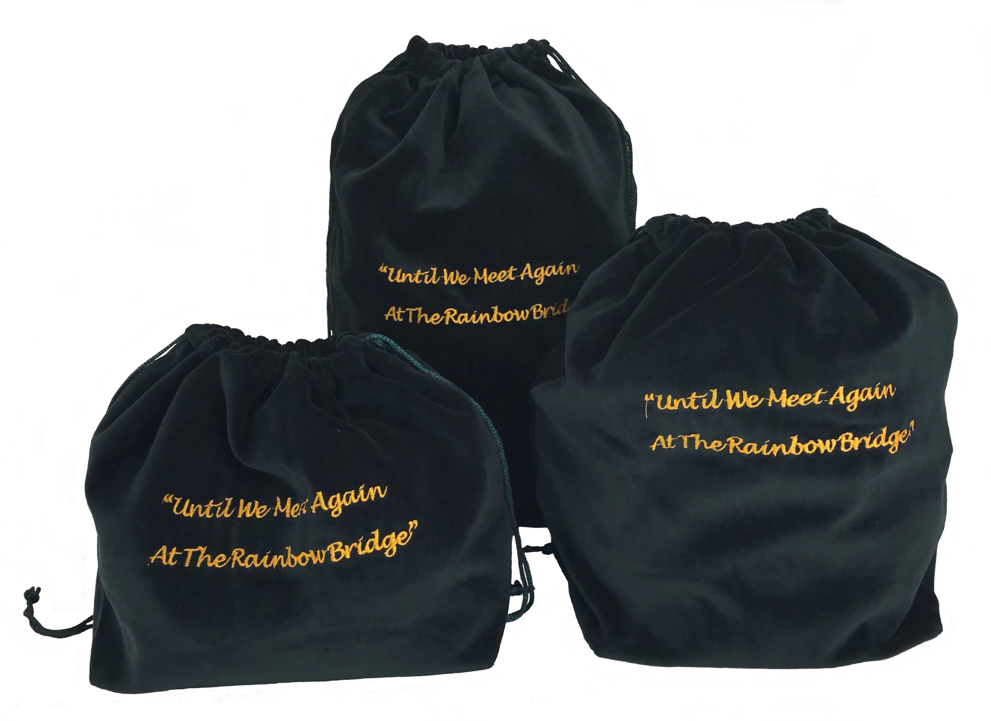 10 x Gusseted Urn Bags - Green (Rainbow Bridge)