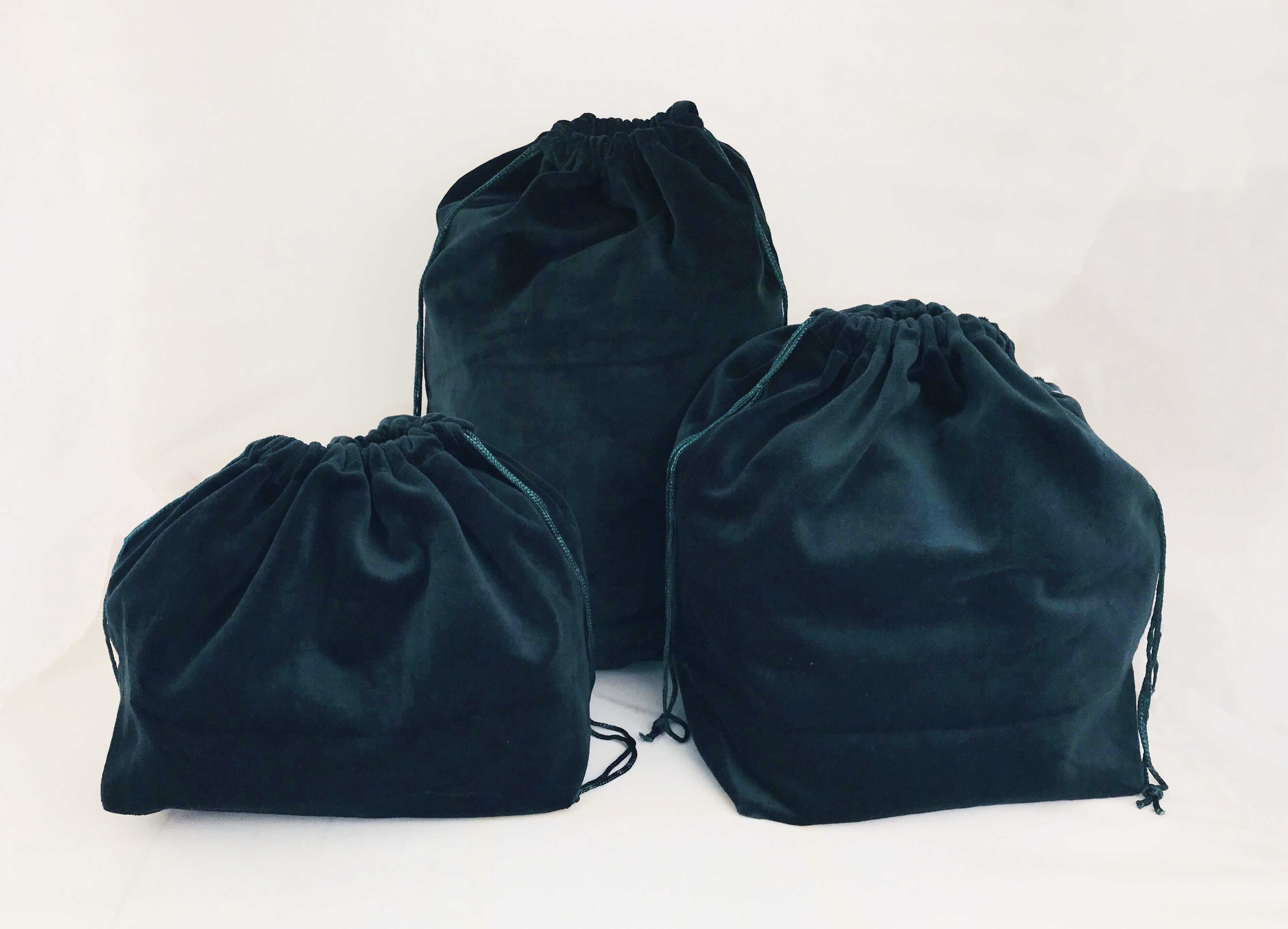 10 x Gusseted Urn Bags - Green (No Embroidery)