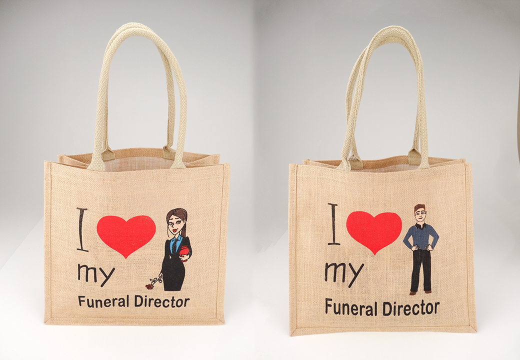 10 x I Love My Funeral Director - Jute Bag - Click Image to Close