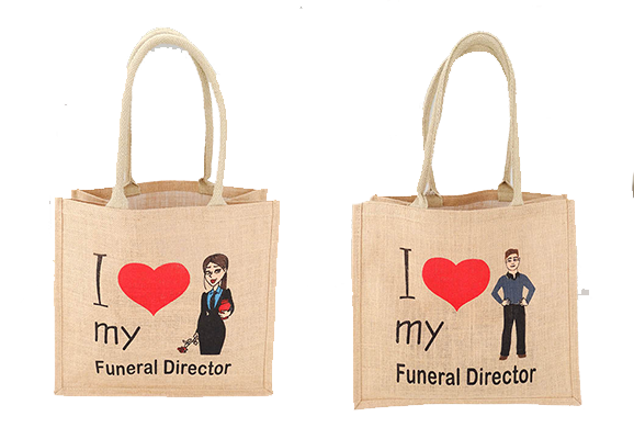 10 x I Love My Funeral Director - Jute Bag