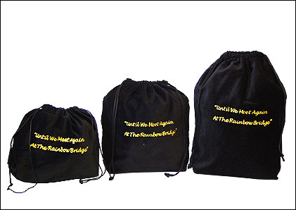 10 x Gusseted Urn Bags - Black (Rainbow Bridge)