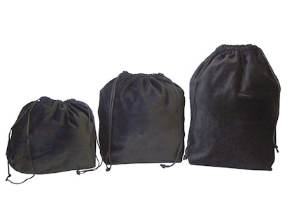 10 x Gusseted Urn Bags - Black (No Embroidery)