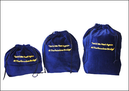 10 x Gusseted Urn Bags - Blue (Rainbow Bridge)