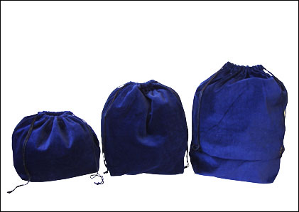 10 x Gusseted Urn Bags - Blue (No Embroidery)