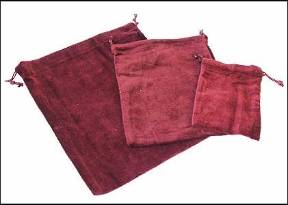 10 X Cremains Bags - Burgundy - No Embroidery