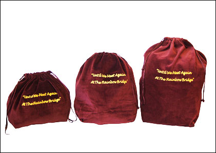 10 x Gusseted Urn Bags - Burgundy (Rainbow Bridge)