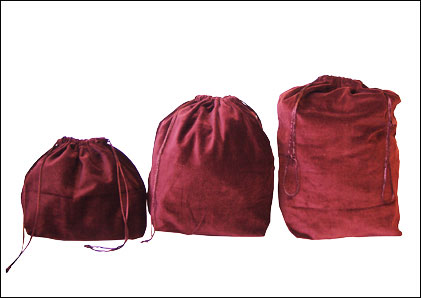10 x Gusseted Urn Bags - Burgundy (No Embroidery)