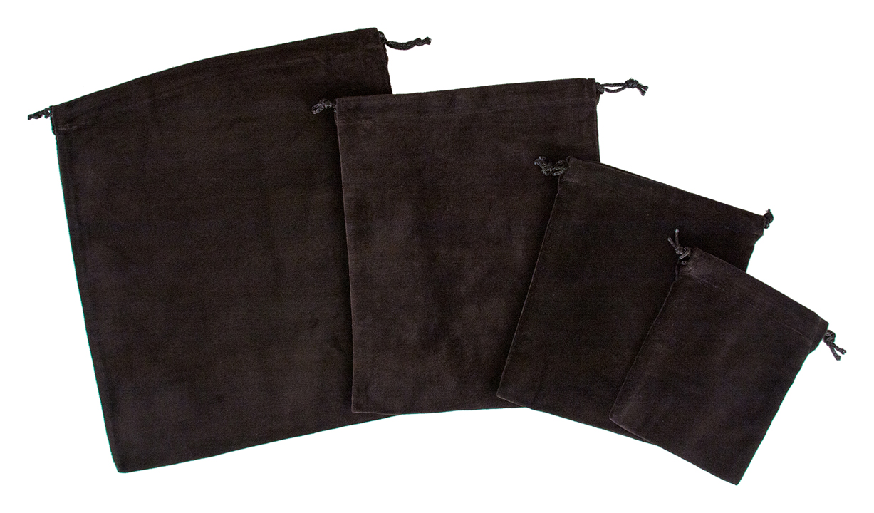 10 X Cremains Bags - Black - No Embroidery